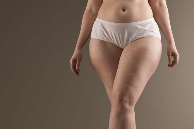 Curvaceous woman wearing underwear